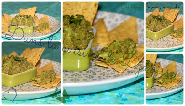 Petits pois en guacamole