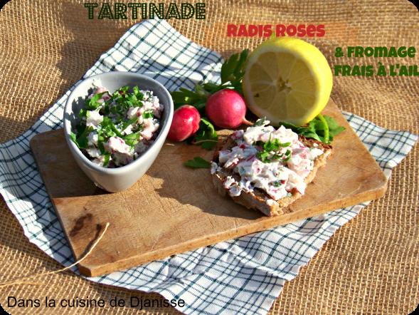 Tartinade radis et fromage fraisl'ail